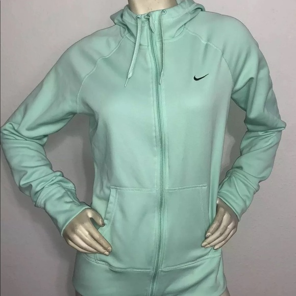 Nike Therma Fit Hoodie Jacket zip up Green Medium